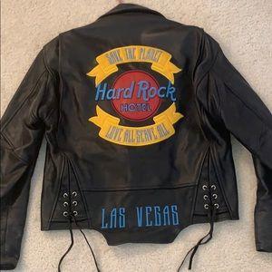Hard Rock Hotel Leather Jacket Size XS RUNS BIG